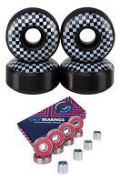 Cal 7 52mm 99A Checker Skateboard Wheels + ABEC-7 Bearings