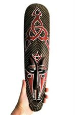 Bali Wall Mask Long Abstract Tattoo Symbol Tribal Ethnic Face African Wood 50 cm