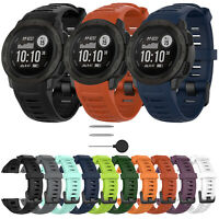 22mm Silicone Watch Band Wrist Strap Bracelet Tools for Garmin Instinct Watch