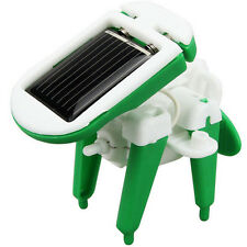 6 in 1 Creative DIY Educational Learning Power Solar Robot Kit Children Toy Gift