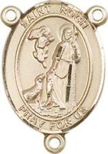 14k Yellow Gold Saint Roch Medal Charm 16mmx9mm