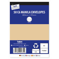 50 C6 Manila Peel & Seal Envelopes - Stick Letters Post Ship Deliver Quality