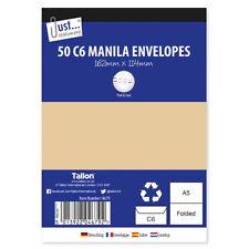50 C6 Manila Peel & Seal Envelopes - Stick Letters Post Ship Deliver Quality