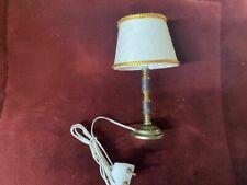 DOLLHOUSE MINIATURE  Brass Metal with Shade LIGHT Lamp