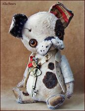 Alla Bears artist Old Antique Puppy art doll Ooak boy pet decor