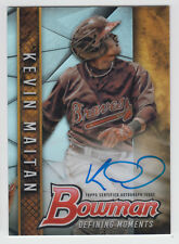 KEVIN MAITAN 2017 Bowman Draft Baseball Defining Moments AUTO #/99 Braves