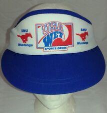 Vintage 80s SMU Mustangs USA Wet Sports Drink Promo Visor Southern Methodist