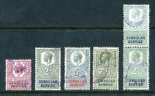 x388 - GB KGV Period Lot of Consular Revenue Stamps. 5 Values, Light Cancels