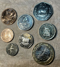 More details for falkland isl. 🇫🇰 coins set 8x coins 1p to 2£ all unc from bags various years