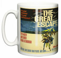 "Steve McQueen Mug ""Classic Hollywood Movie Poster The Great Escape"" Coffee Gift"