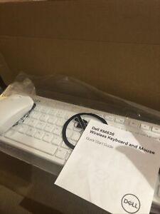 Dell KM636 Wireless Keyboard and Mouse Combo - White