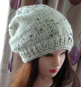 Hand Knitted Beanie Warm Women's Winter Hat Australia Made