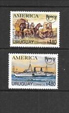 Uruguay Sc 1543-44 Nh issue of 1994 - Postal Service