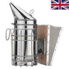 More details for bee smoker stainless steel large heat shield beekeeping apiary beekeeper tool uk