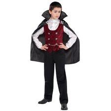 Childrens Boys Dark Vampire Dracula Halloween Costume Fancy Dresst 12-14 Yr