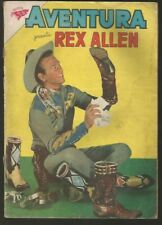 Aventura #131 Rex Allen Comic Spanish Mexican Novaro 1960