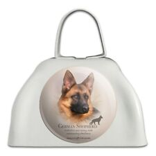 German Shepherd Dog Breed White Metal Cowbell Cow Bell Instrument