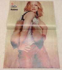 """Madonna Front Cover Photos Large Poster Vintage Danish Magazine 2001 """"Her og Nu"""""""