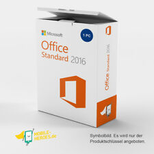 Microsoft Office 2016 Standard 1 PC Sofort per E-Mail Vollversion Angebotspreis