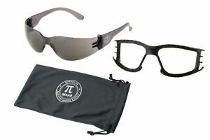Set: PiWear Sonnenbrille - Dallas BM - schwarze Gläser + abnehmbares Polster