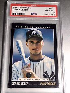 1993 Pinnacle Derek Jeter RC #457 Rookie PSA 10 Gem Yankees