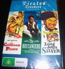 The Crimson Pirate / Buccaneers / Long John Silver (Australia Region 4) DVD NEW