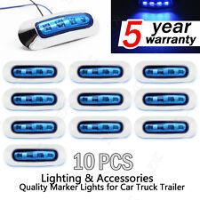 10x Blue 4 LED Side Clearance Marker Light Car Truck Tail Trailer Lamp 12v 24v