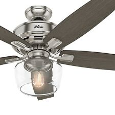 Hunter Fan 52 inch Traditional Brushed Nickel Ceiling Fan with Remote Control