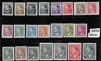 #6856   MNH Stamp set / 1942 Third Reich Adolph Hitler / WWII Germany Occupation