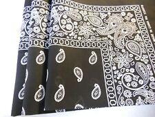 Lot Of 12 100% Cotton Paisley Print Scarf Bandanas Head Wrap Wristband Wholesale