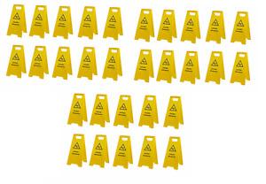 30 Stück Warnschild-Vorsicht Rutschgefahr-Vorsicht Glatt-Warnaufsteller Schild