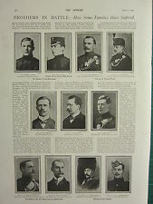 1900 VICTORIAN BOER WAR PRINT ~ BROTHERS IN BATTLE ~ ADMIRAL PECHELL BEAUCHAMP
