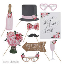 WEDDING DAY PHOTO BOOTH PROPS - Vintage Floral Look