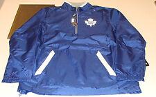 Toronto Maple Leafs NHL Hockey Reebok Center Ice Hot Jacket 1/4 Zip M Blue NWT