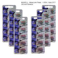 Maxell 377 SR626SW Silver Oxide Watch Batteries (30 Pcs)