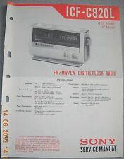 Sony icf-c820l 3-Band Digital Clock Radio Service Manual