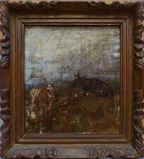Fernand CORMON (1845-1924) Peinture vache boeuf dans un paysage