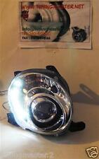Coppia Fari Fanali Anteriori Tuning Dayline FIAT 500 07-15 (H1+H1) Cromo
