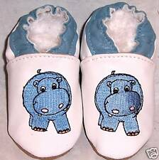 MOXIES soft sole leather baby shoes LITTLE HIPPO 0-6