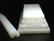 "1.5"" X 12"" X 48"" Natural Color UHMW Plastic Polyethylene Sheet FDA NSF"