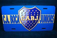 BOCA JUNIORS FOOTBALL CLUB METAL CAR LICENSE PLATE ARGENTIAN SOCCER