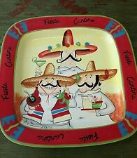 "FIESTA CANTINA CERAMIC Platter 16 1/2 "" MEXICAN CHEF CERTIFIED INTERNATIONAL NEW"