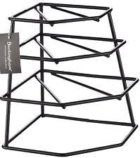 4 Tier BLACK Cupboard Corner Plate Rack/Holder by BUCKINGHAM