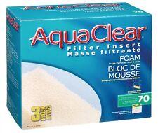 3-Pack AquaClear 70 Aquarium Filter Insert Foam Media A1396 Aqua Clear