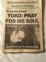 John Lennon New York Daily New December 10, 1980  Excellent Condition