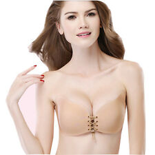 Women Wings Shape Strapless Invisible Bra Bandage Breast Lift Push Up 3/4 Cup
