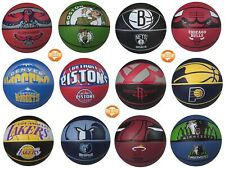 "Spalding Basketball Nba Team Official Sized Balls Courtside Outdoor Rubber 29.5"""