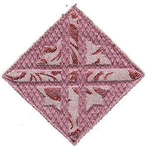 """2 +"""" Pink Croix Diamant Carré Broderie Patch"""