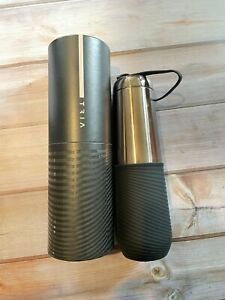 AR+Cook Nordstrom TRIA Double Stainless Gray Water Bottle Silicone Wristlet