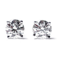 0.20 Ct 14K White Gold Diamond Stud Earrings